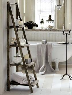 Sogniamo con un bagno shabby chic interior design low cost - Ikea porta spugne ...